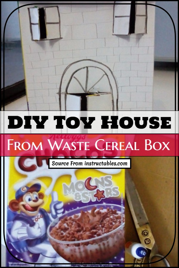 Kid's playing house From Waste Cereal Box