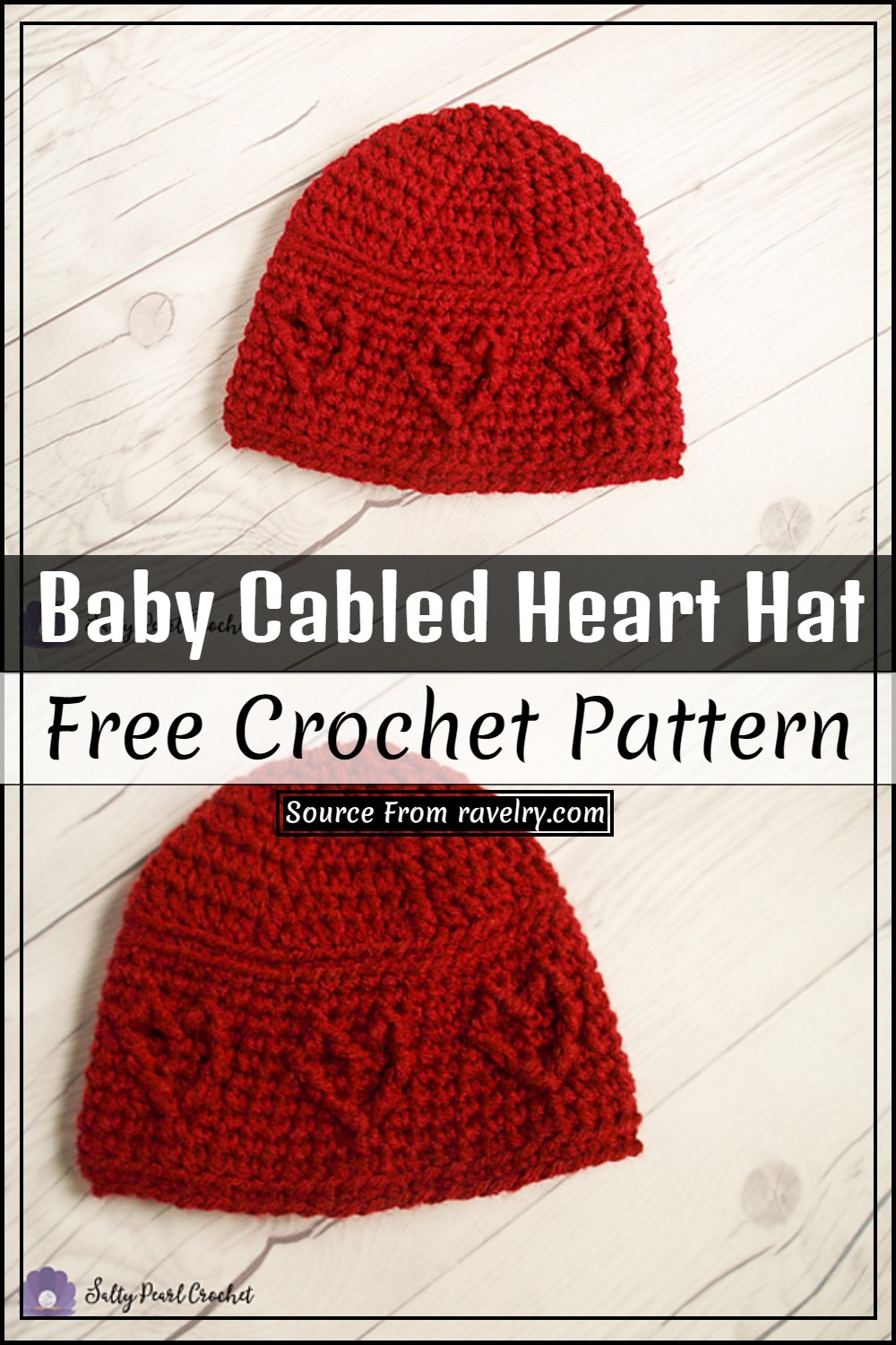 Free Crochet Baby Cabled Heart Hat Pattern