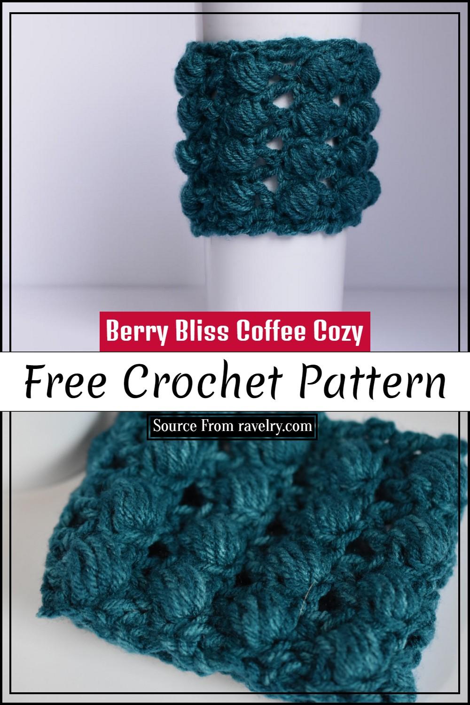 Free Crochet Berry Bliss Coffee Cozy Pattern