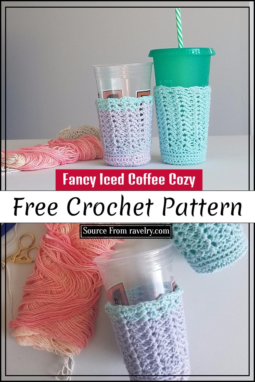 Free Crochet Fancy Iced Coffee Cozy Pattern