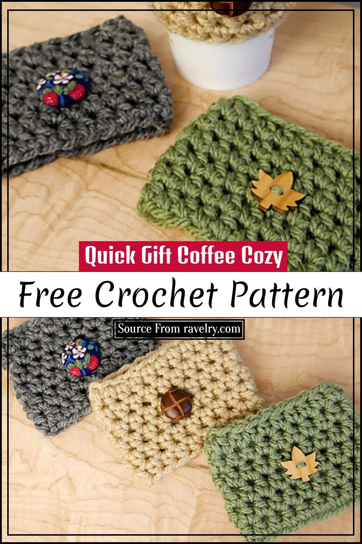 Free Crochet Quick Gift Coffee Cozy Pattern