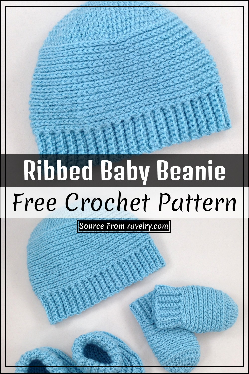 Free Ribbed Baby Beanie Pattern