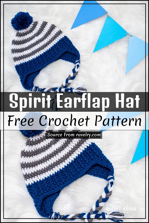 Free Crochet Spirit Earflap Hat Pattern