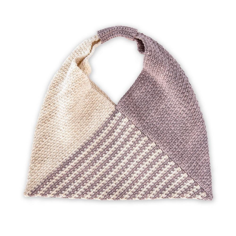 Free Crochet Triangle Tote Bag Pattern