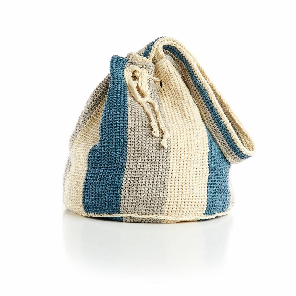 Pinwheel Bottom Tunisian Crochet Bag