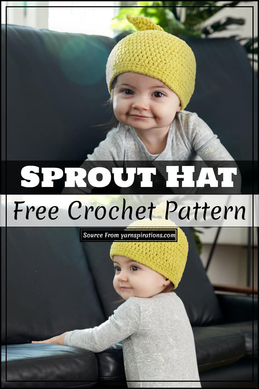 Sprout Crochet Hat Free Pattern