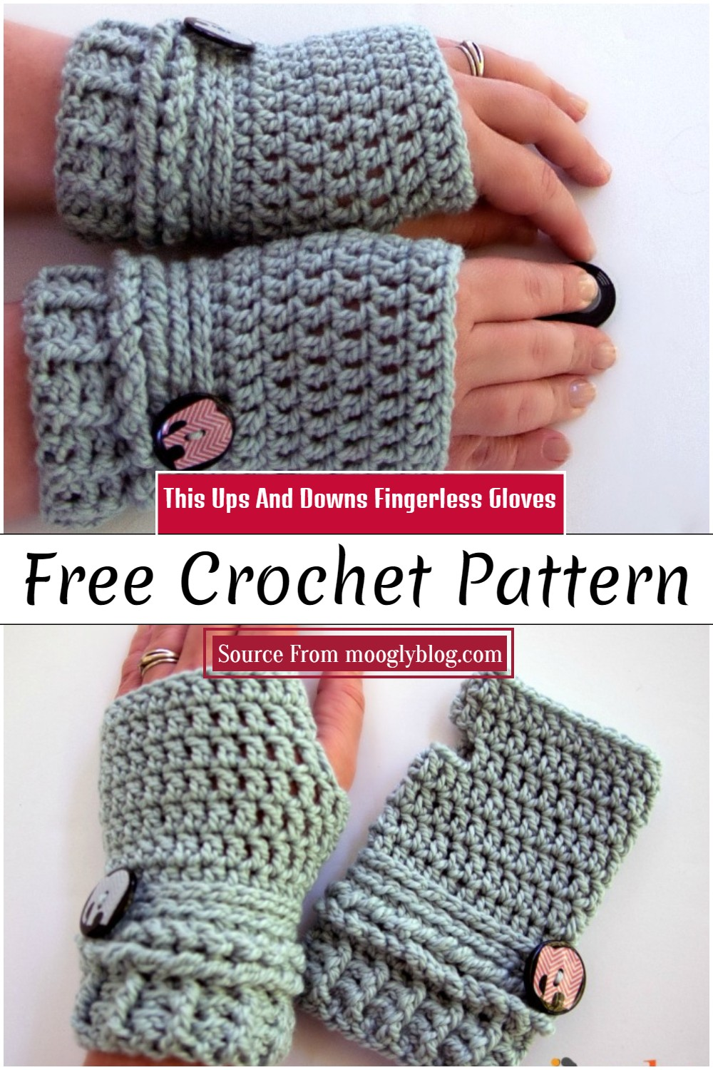 This Ups And Downs Crochet Fingerless Gloves