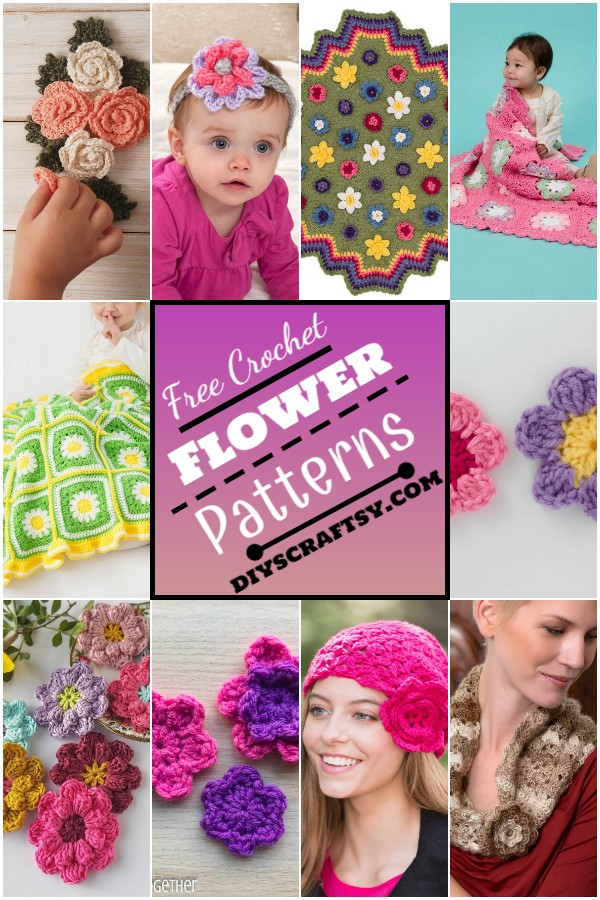 Adorable Easy Crochet Flower Patterns