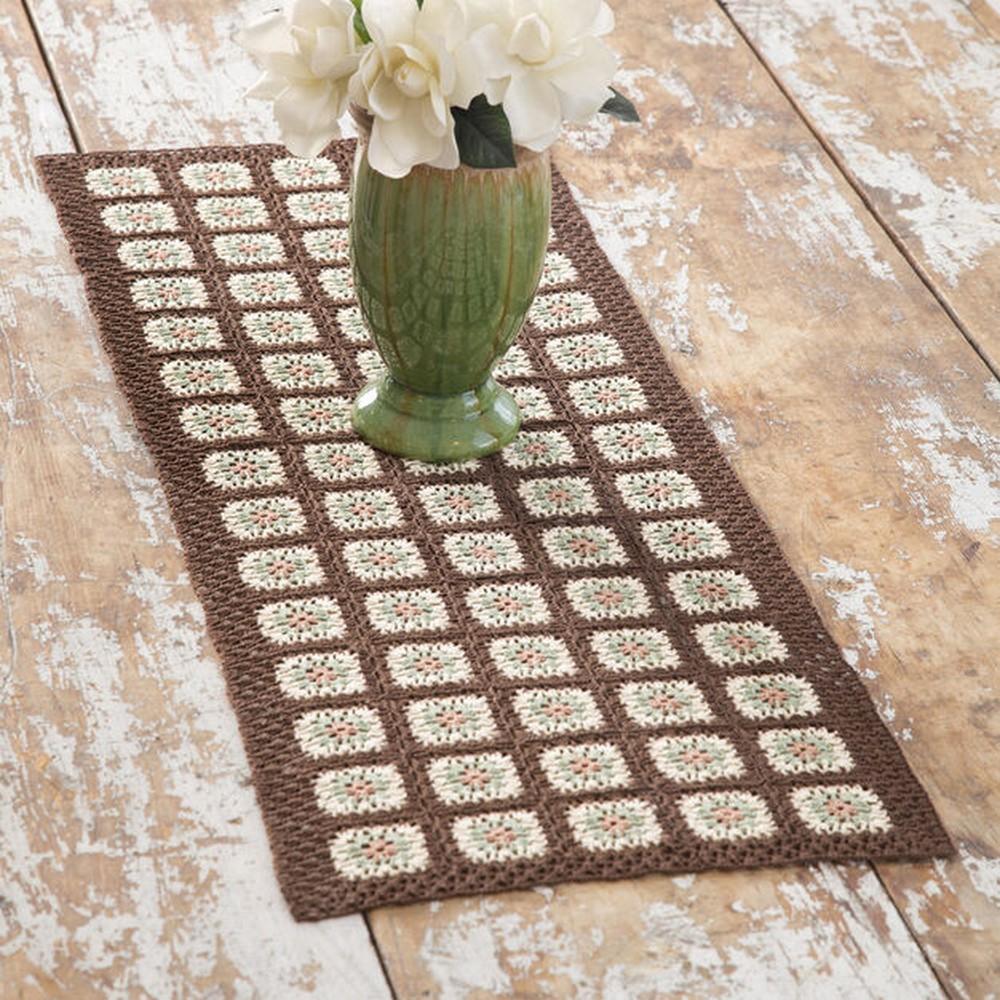 Crochet Cream Table Runner Pattern