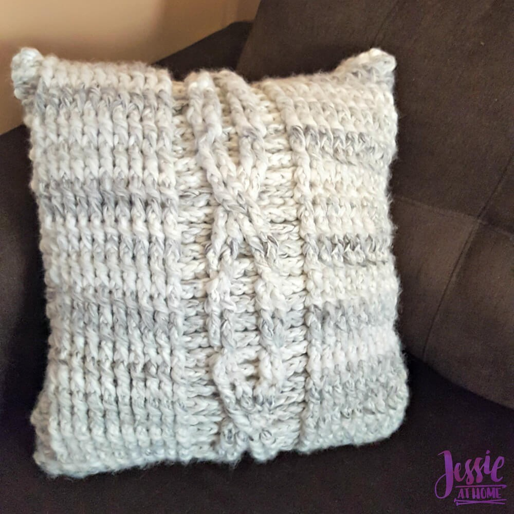 Crochet Giant Cable Pillow Pattern