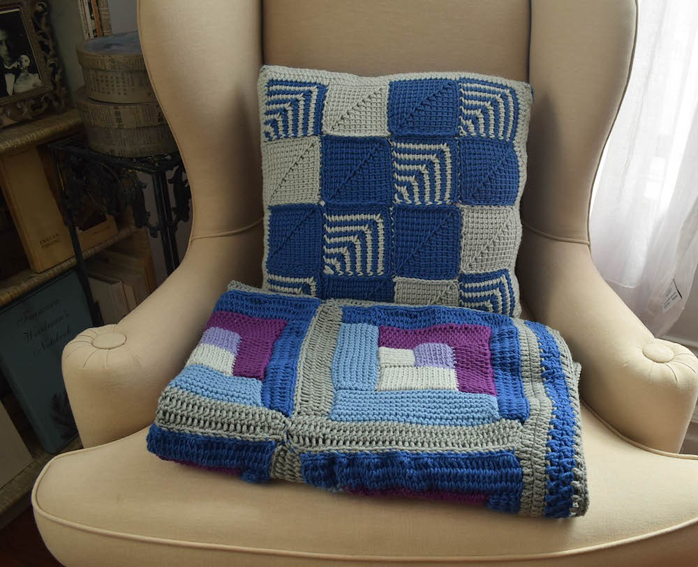 Crochet Mitered Square Pillow Pattern