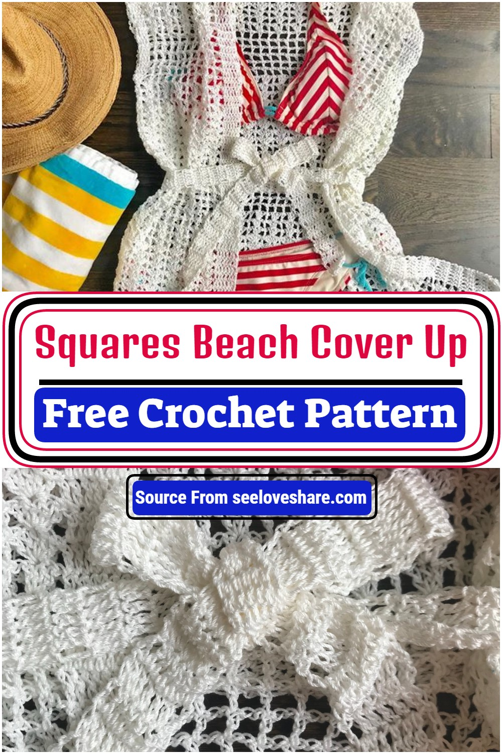Crochet Squares Beach Cover Up Pattern