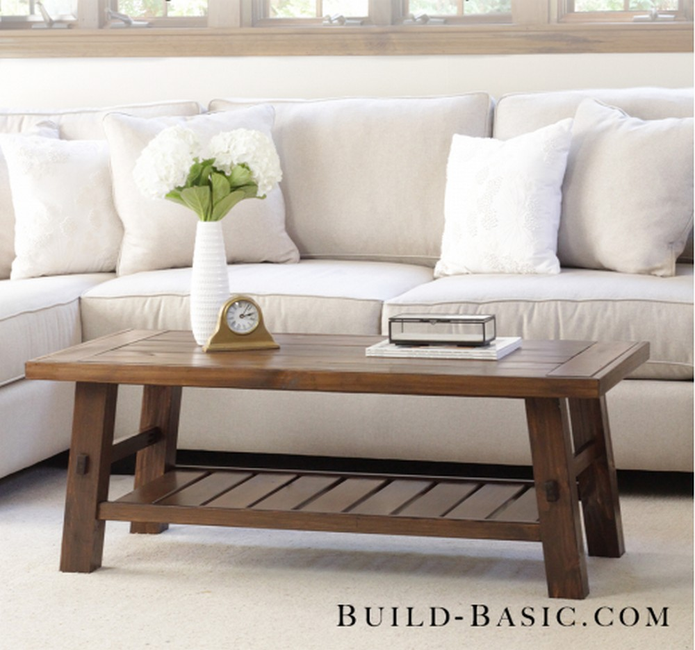 DIY Coffee Table Building Plans And Instructions