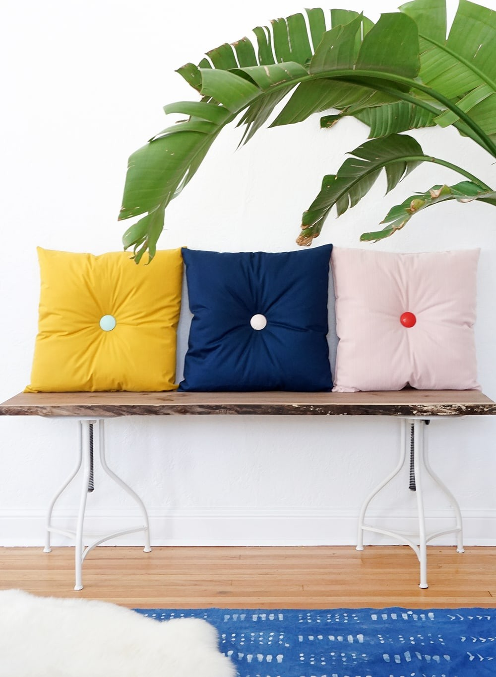 DIY Colorful Tufted Pillows