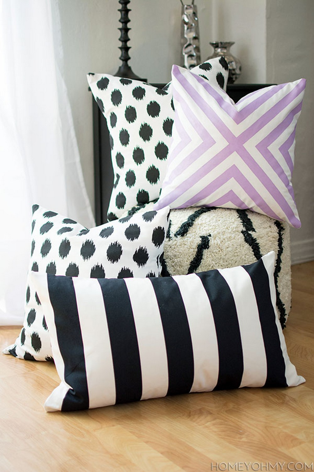DIY Pillow No Sew Covers