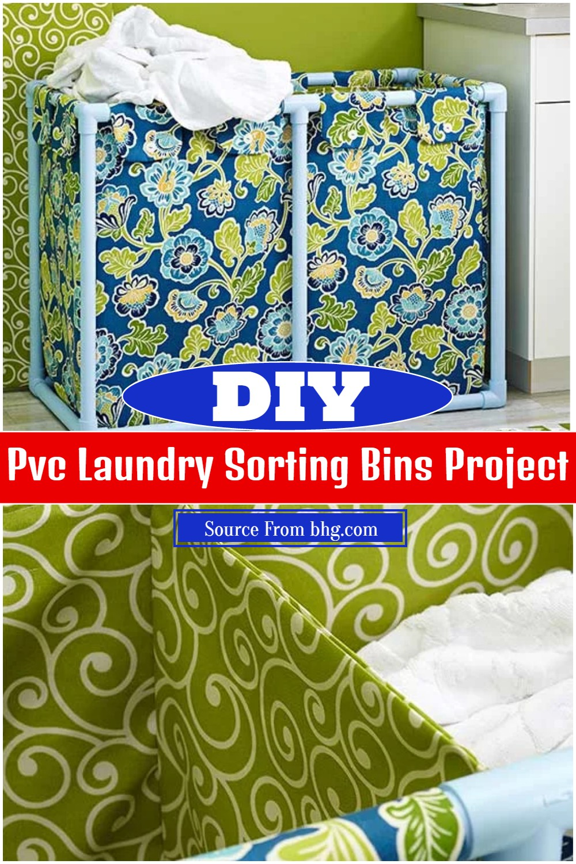 DIY Pvc Laundry Sorting Bins Project