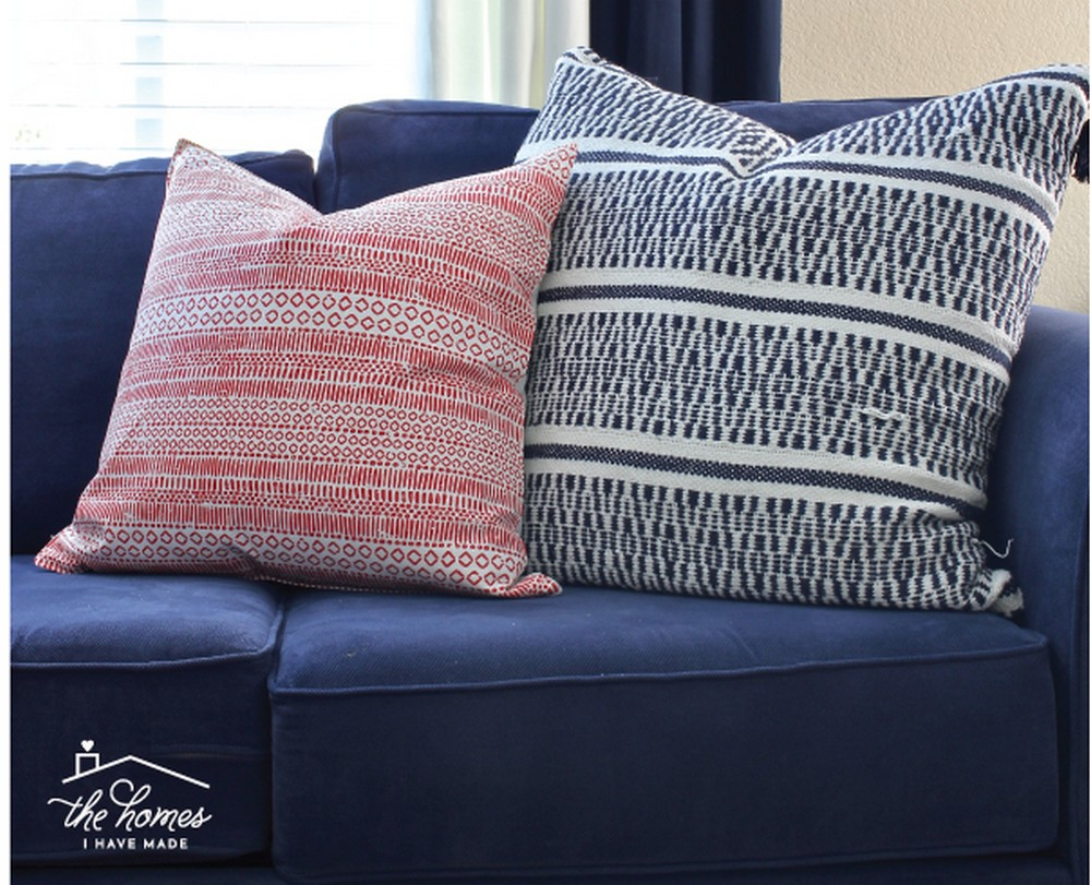 DIY Throw Pillow Covers From A Target Table Runner