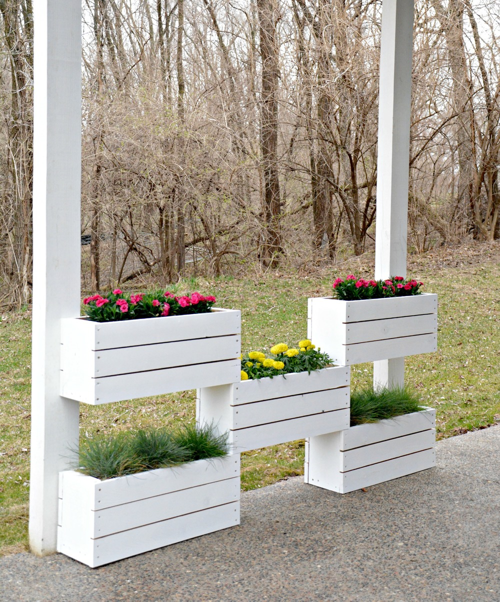 DIY Tiered Wood Flower Boxes