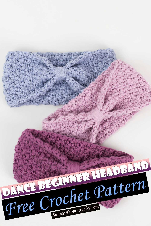 Dance Beginner Headband Free Crochet Pattern
