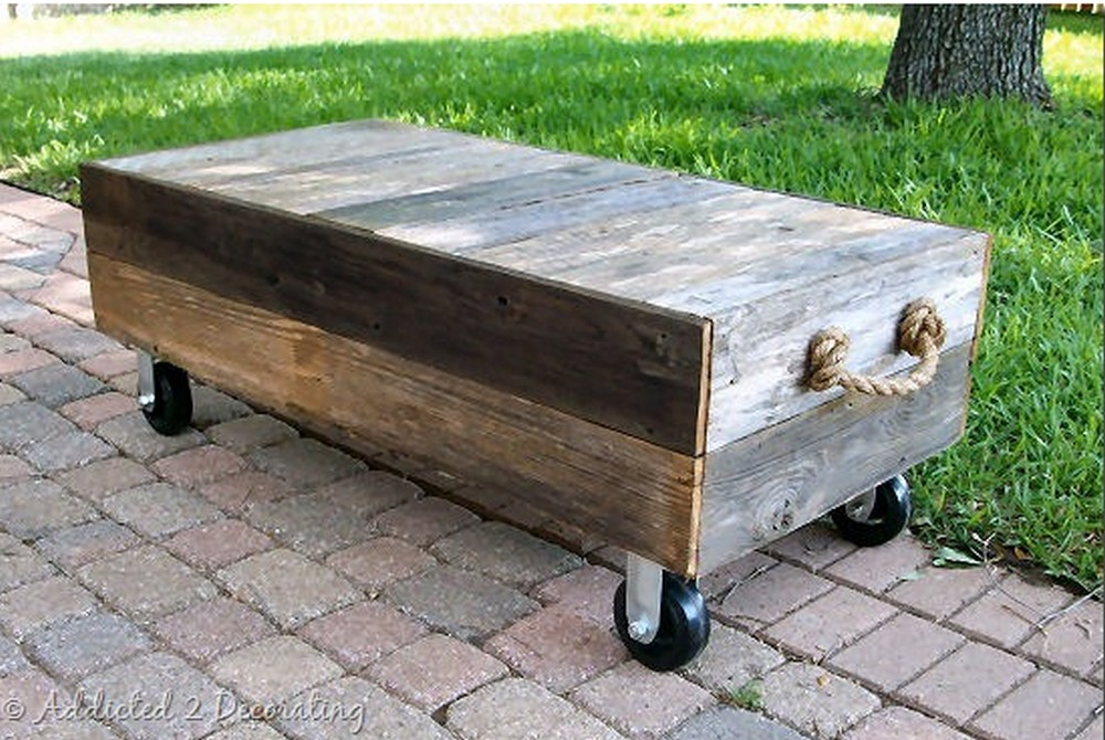 Factory Cart Style Coffee Table
