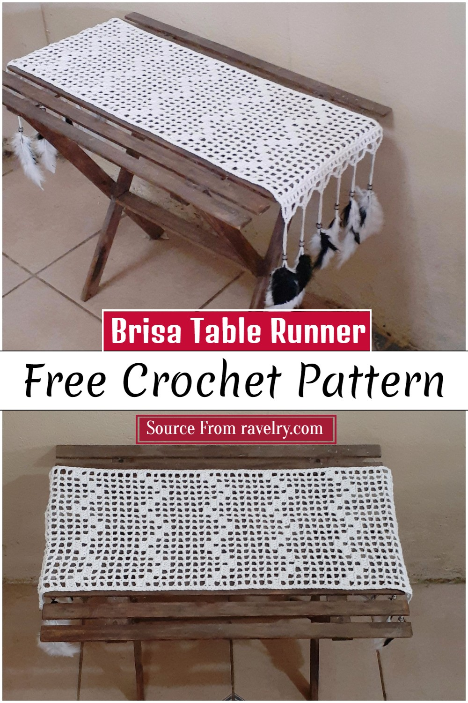 Free Crochet Brisa Table Runner