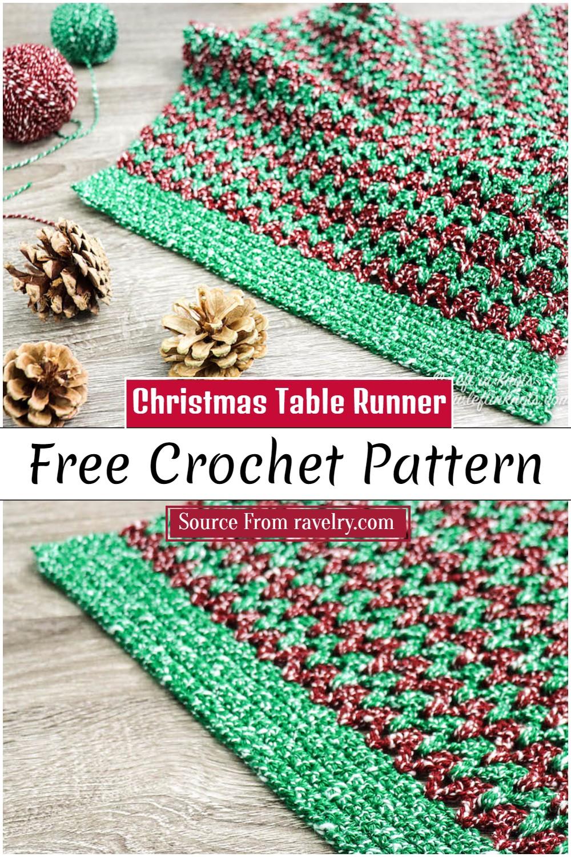 Free Crochet Christmas Table Runner