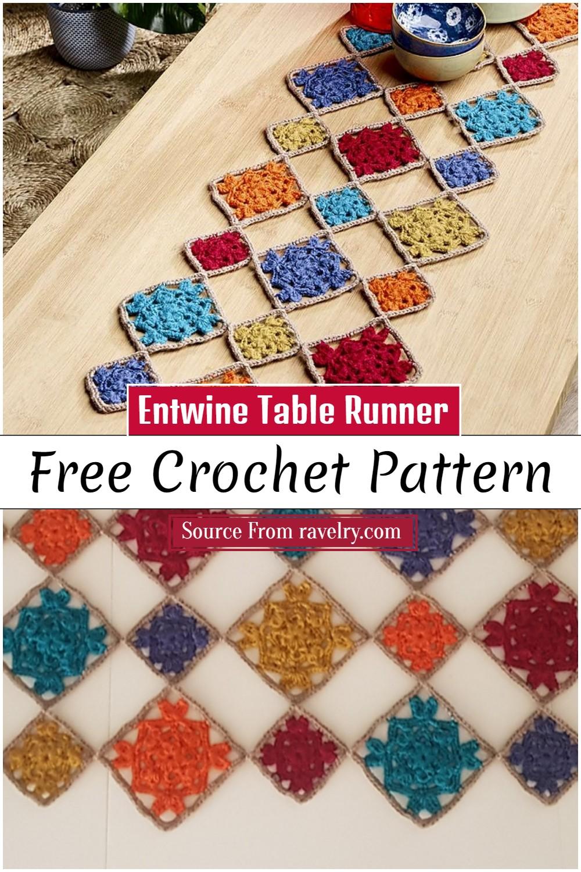 Free Crochet Entwine Table Runner