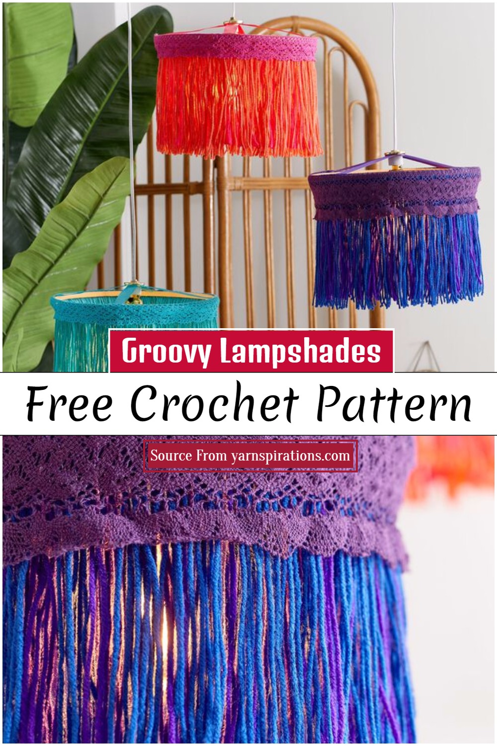Free Crochet Groovy Lampshades