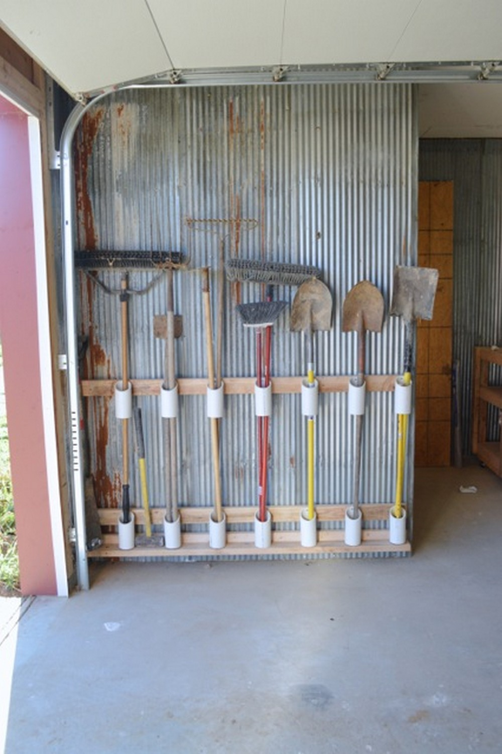 Garden Tool Storage DIY PVC Pipe Project