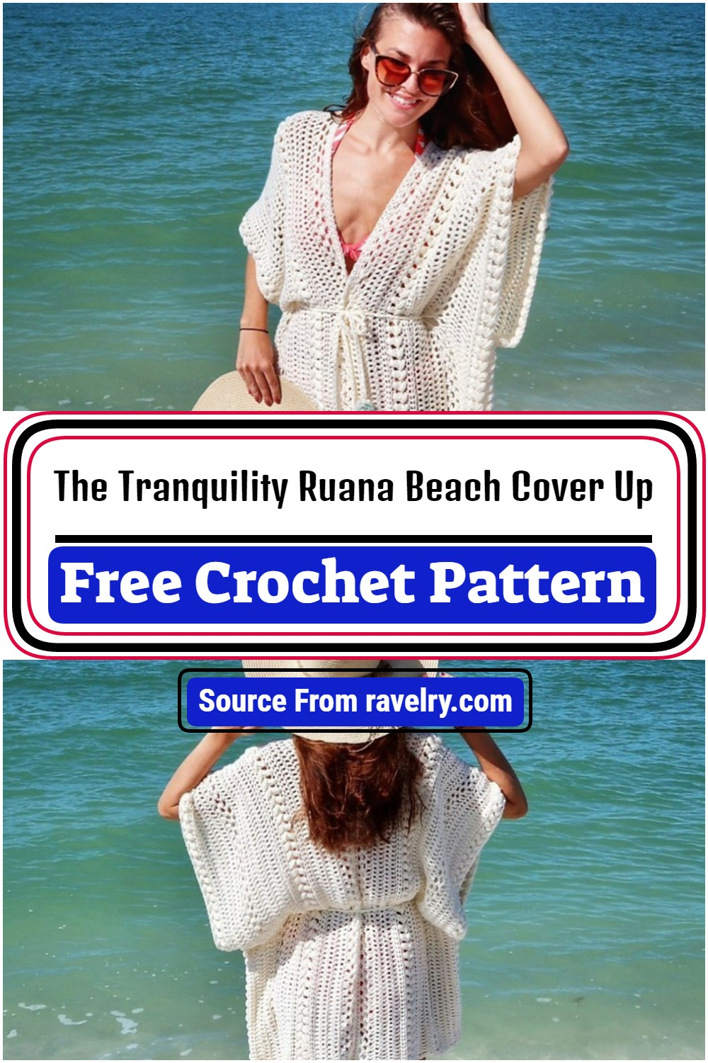 The Tranquility Ruana Beach Cover Up