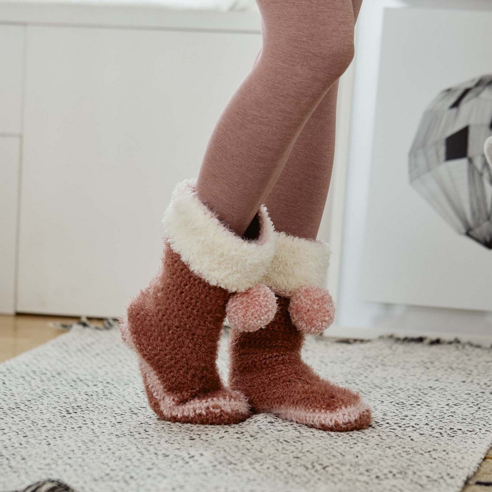 Turn The Page Crochet Slippers