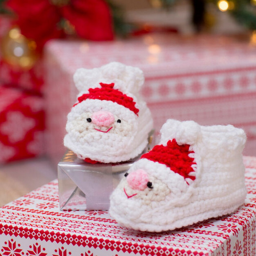 Youngster's Santa Slippers