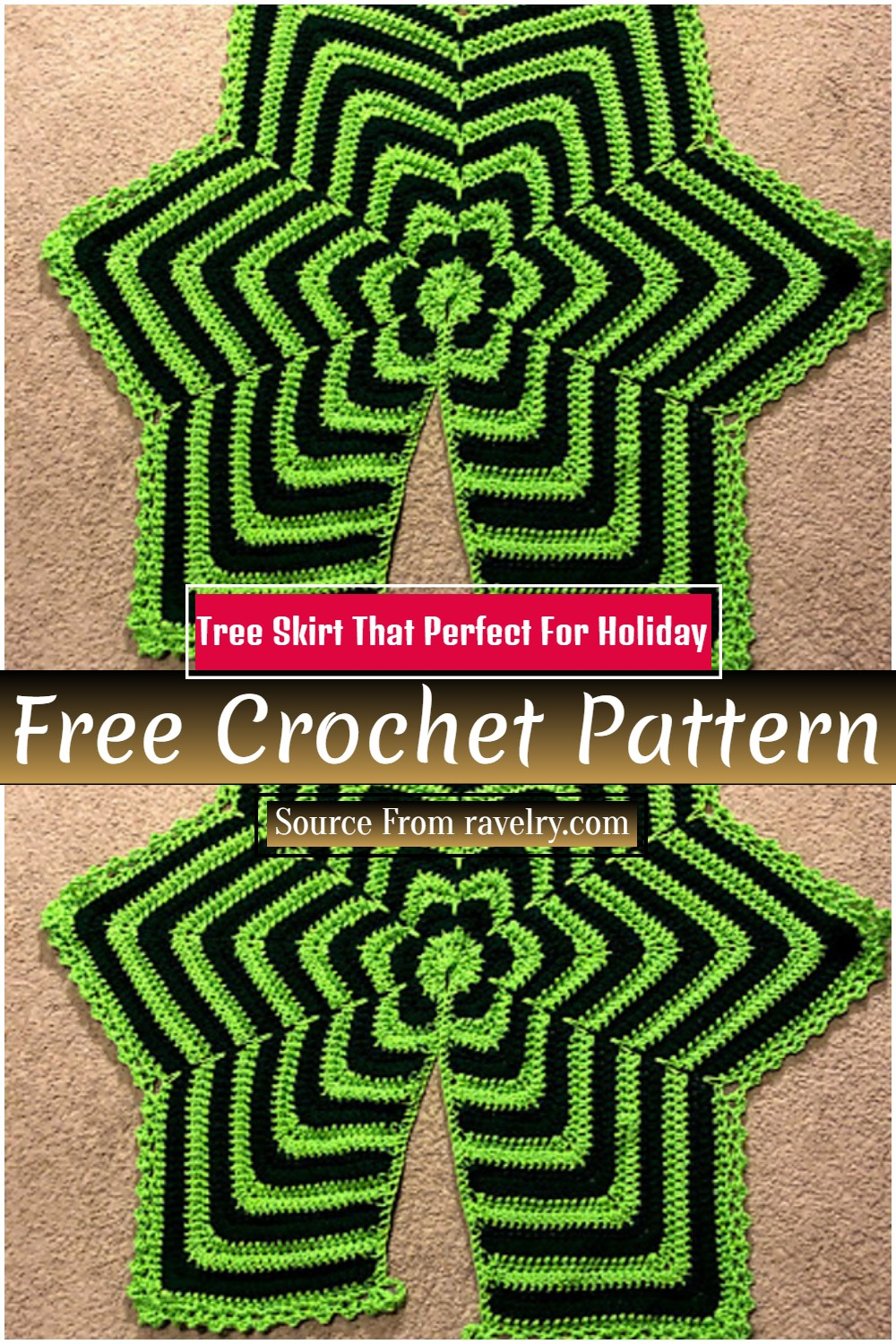 Crochet Tree Skirt Pattern That Perfect For Holiday