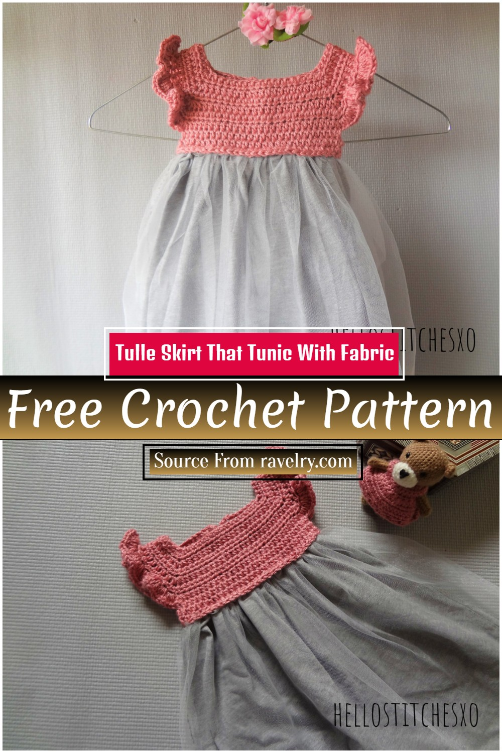 Crochet Tulle Skirt Pattern That Tunic With Fabric
