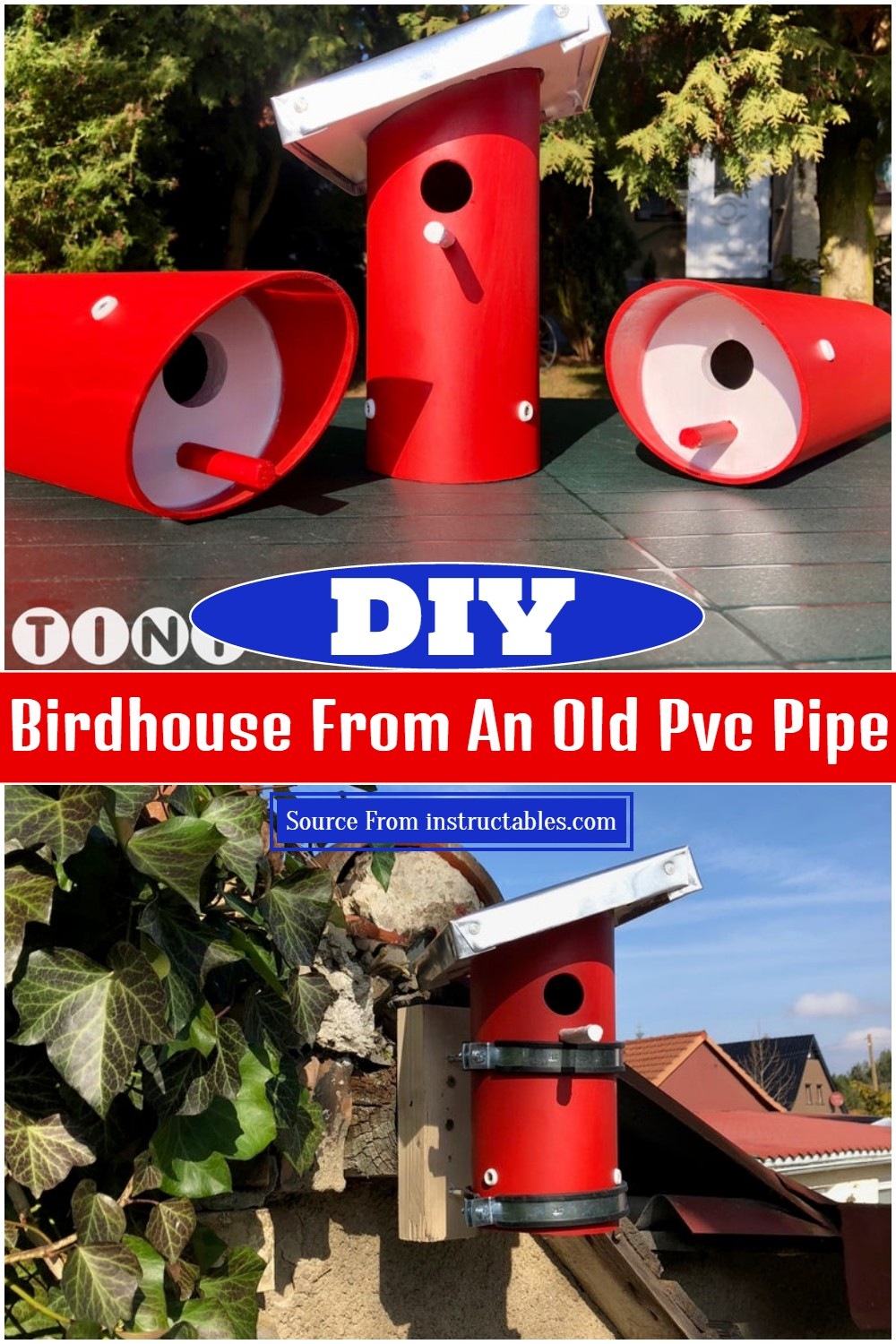 DIY Birdhouse From An Old Pvc Pipe