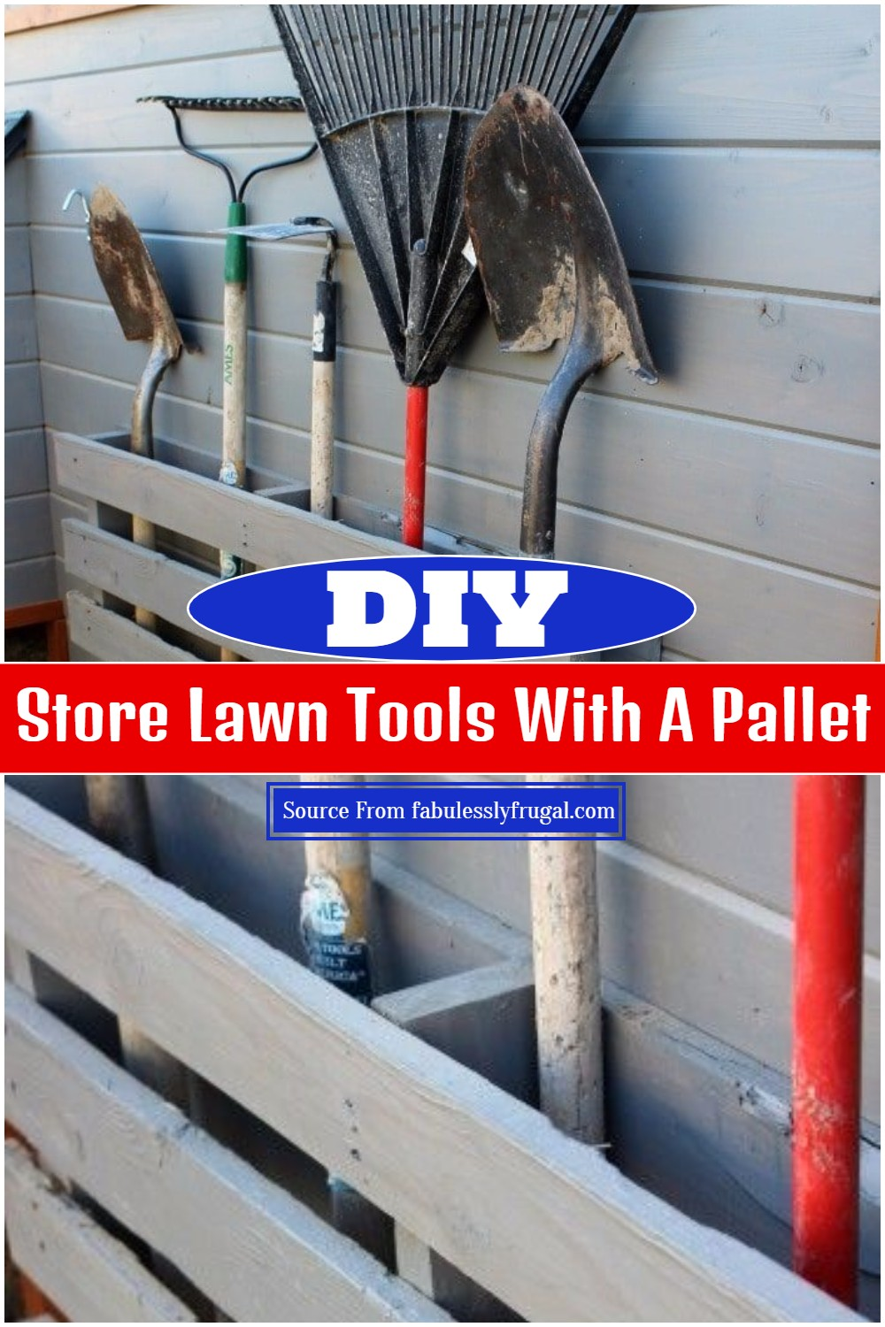 DIY Store Lawn Tools With A Pallet
