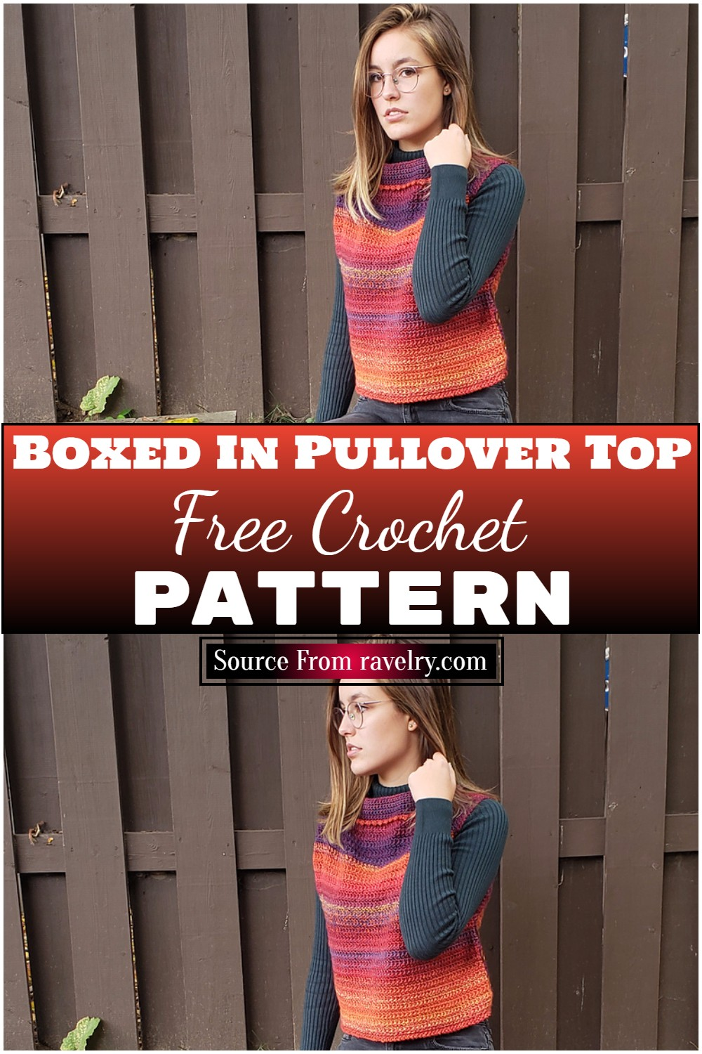 Free Crochet Boxed In Pullover Top Pattern