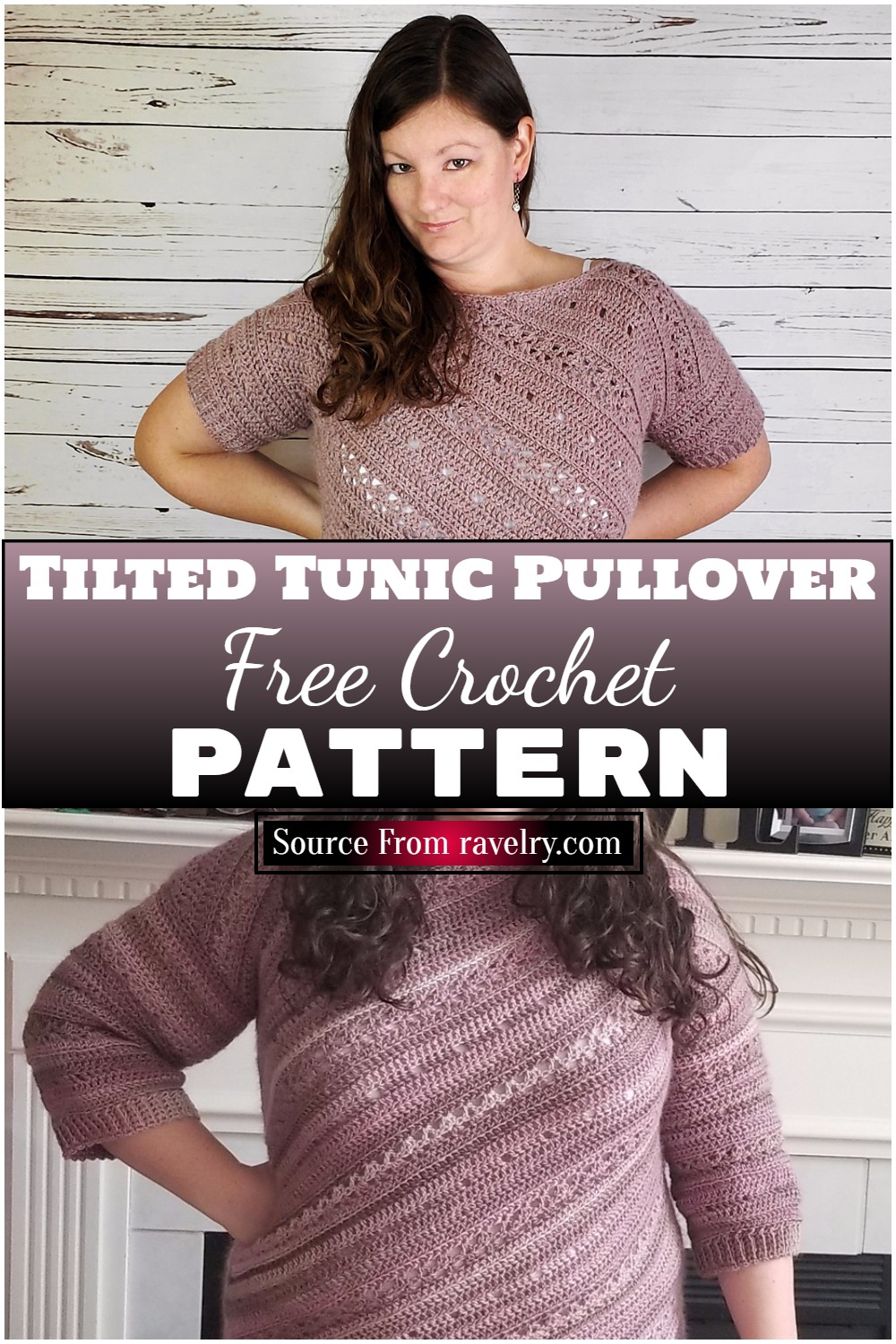 Free Crochet Tilted Tunic Pullover Pattern