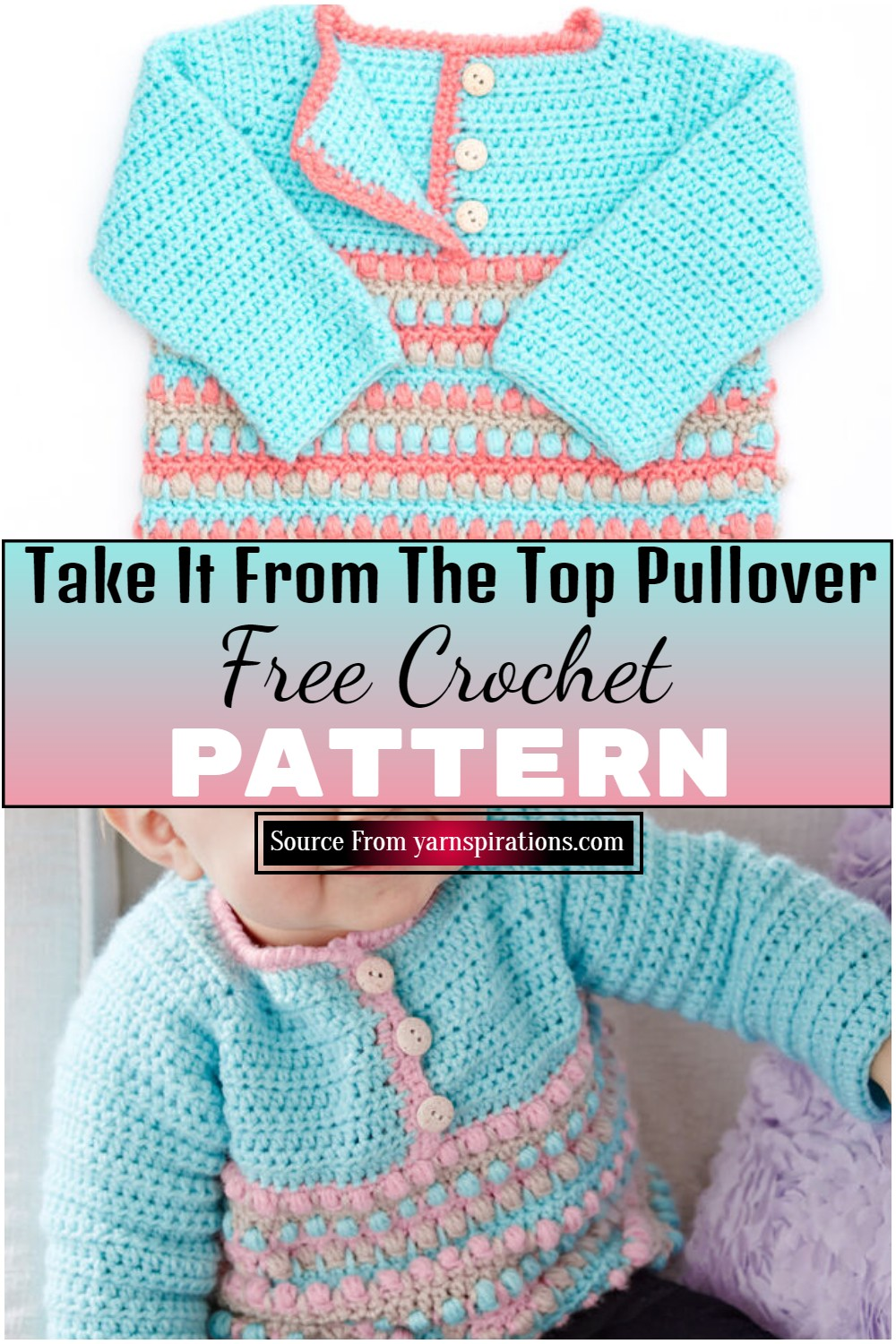 Take It From The Top Pullover Crochet Pattern
