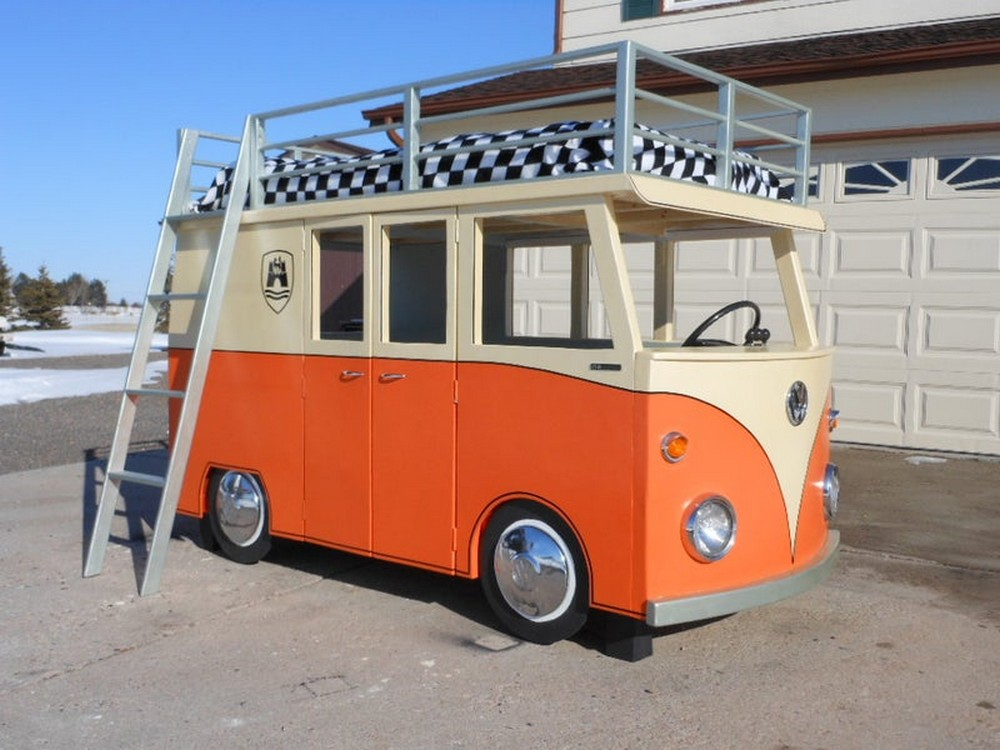 The Micro Bus Bunk Bed And Playhouse