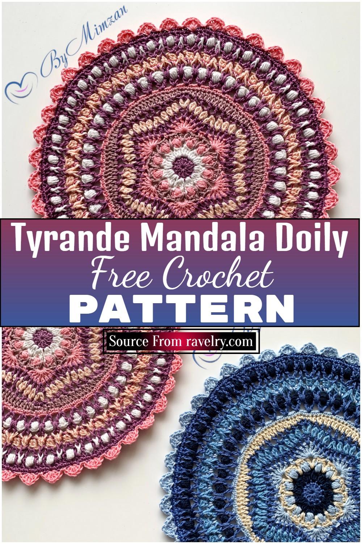 Tyrande Crochet Mandala Doily Free Pattern