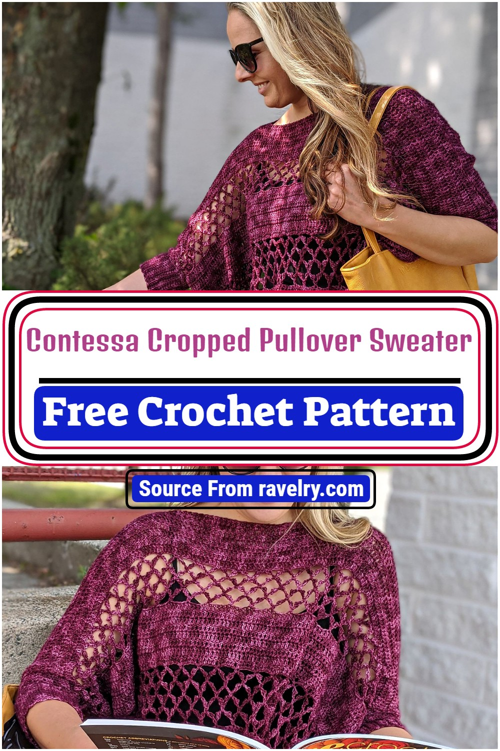 Contessa Cropped Pullover Sweater Pattern
