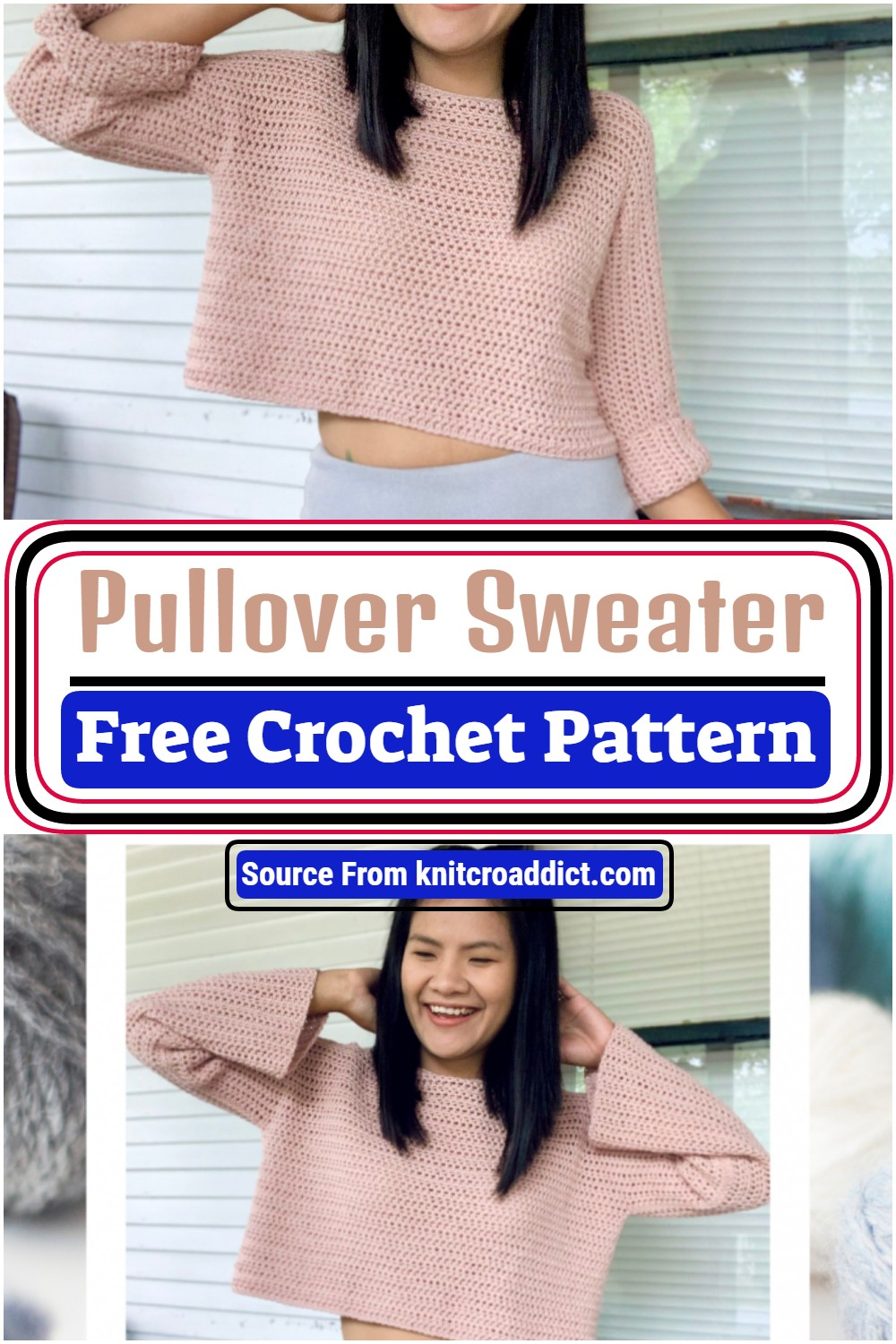 Crochet Pullover Sweater Pattern With Video Tutorial