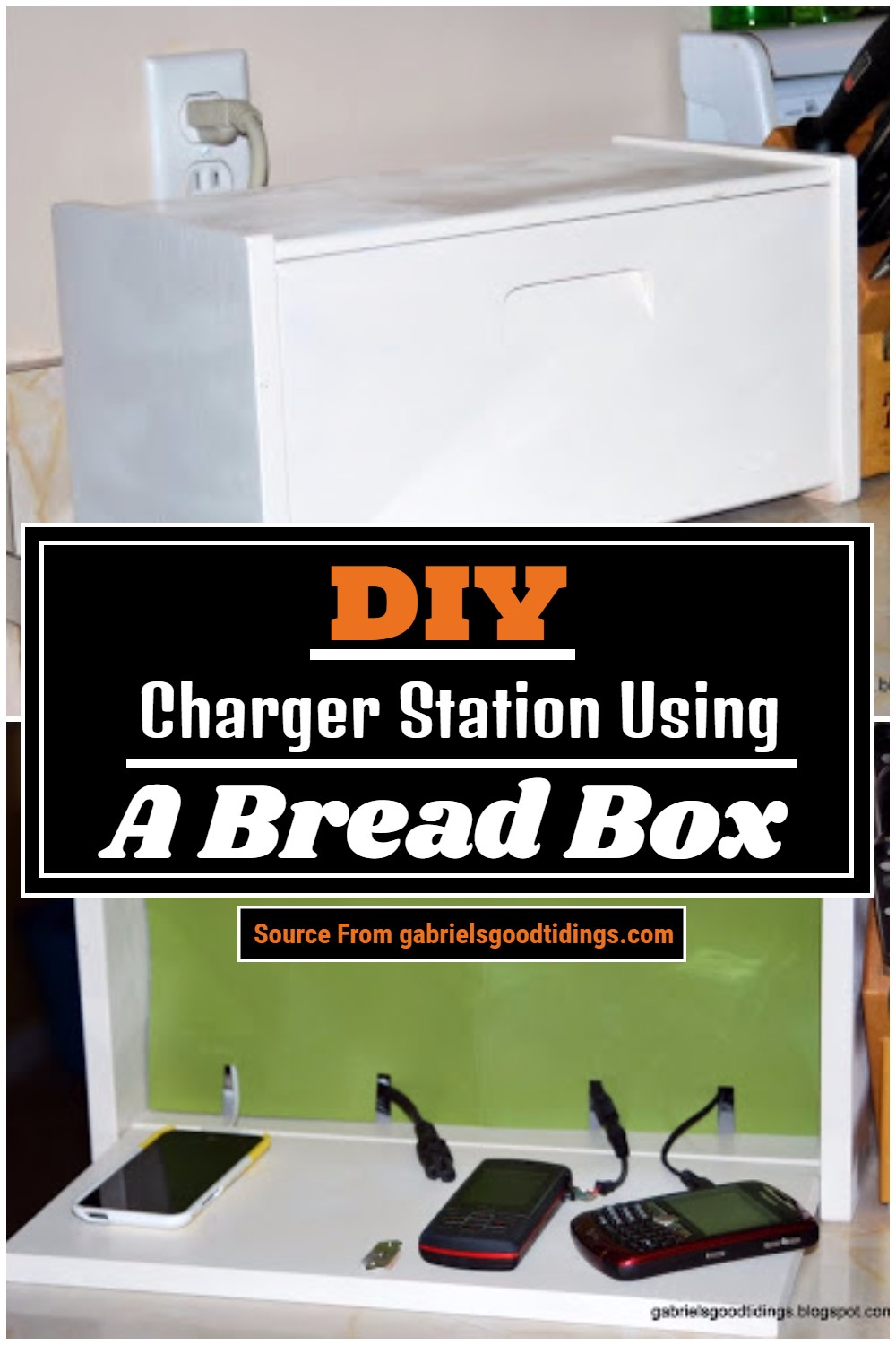 DIY Charger Station Using A Bread Box