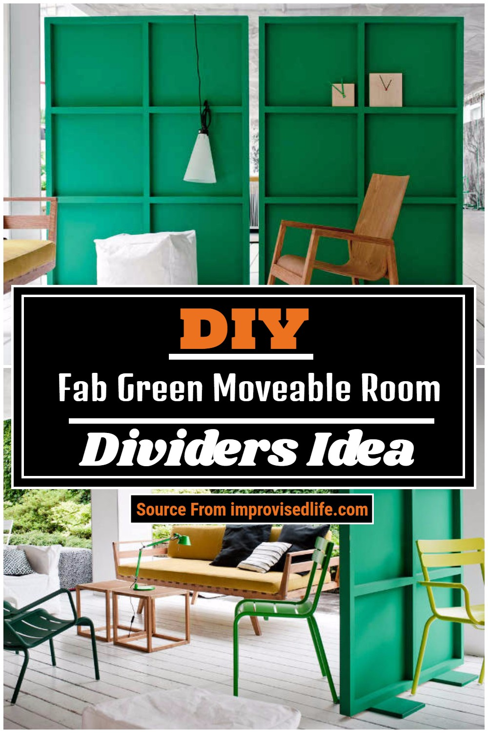 Fab Green Moveable Room Dividers Idea