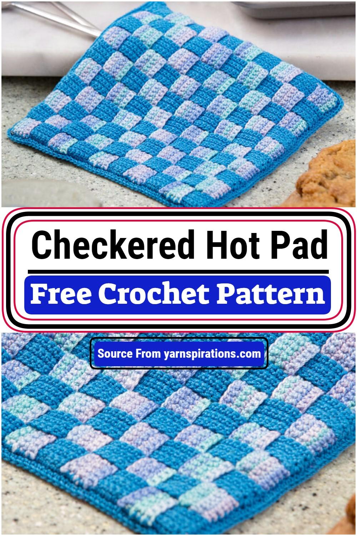 Free Crochet Checkered Hot Pad Pattern