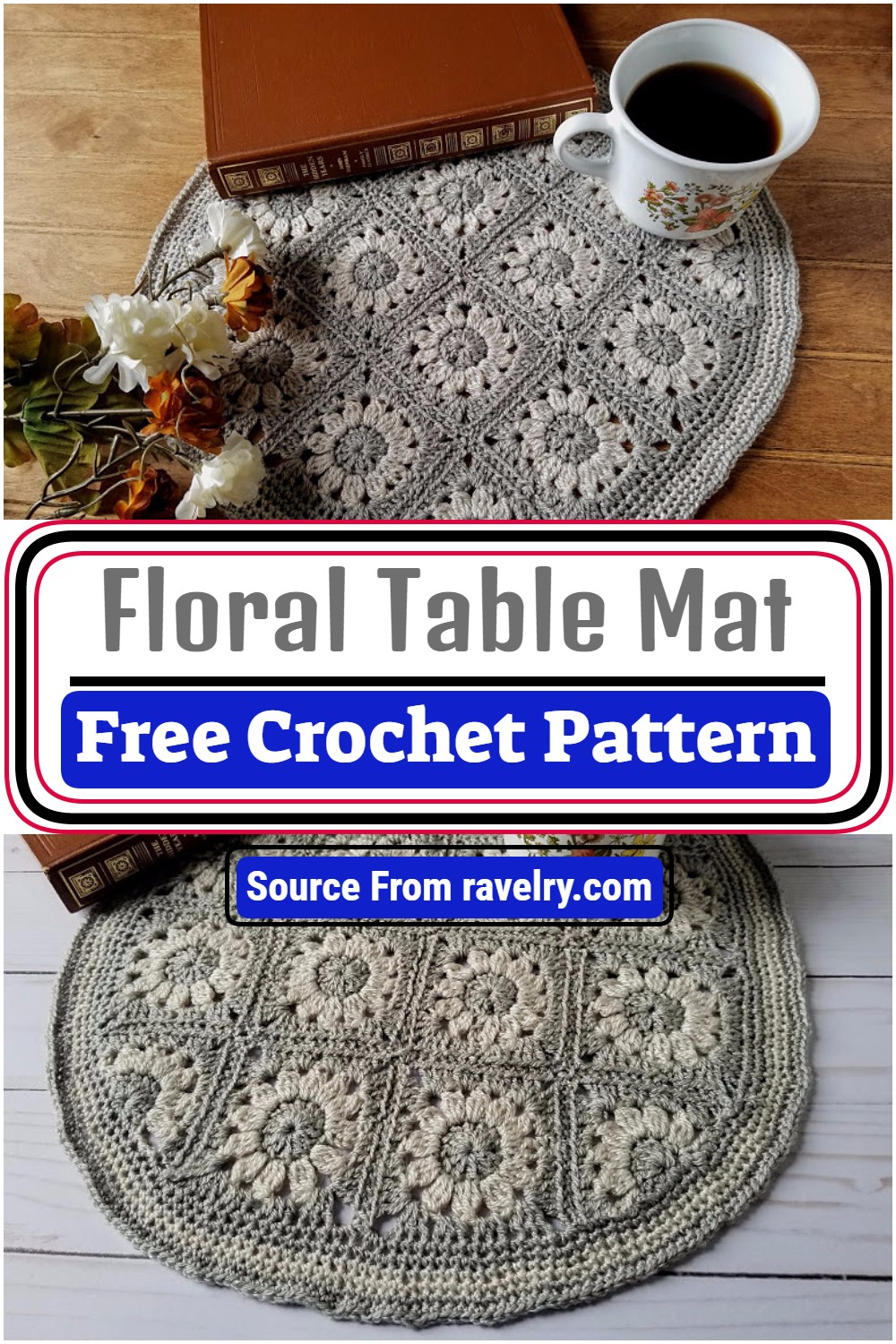 Free Crochet Floral Table Mat Pattern