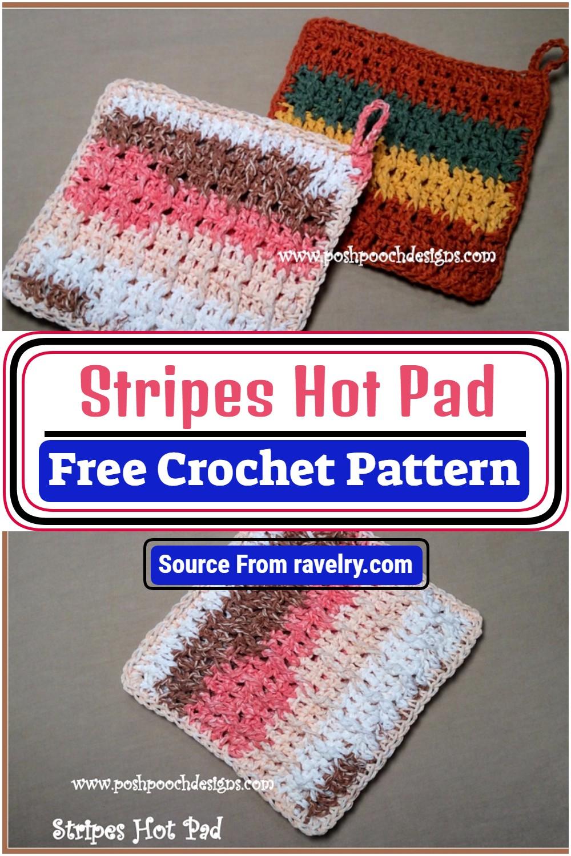 Free Crochet Stripes Hot Pad Pattern