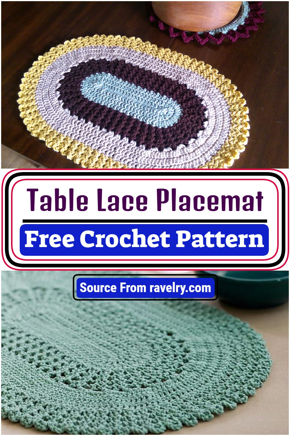 Free Crochet Table Lace Placemat Pattern