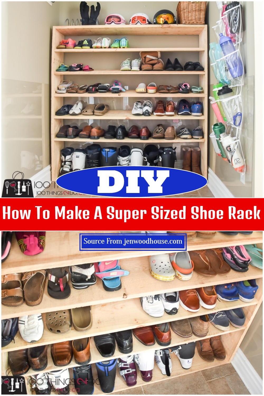 How To Make A Super Sized DIY Shoe Rack